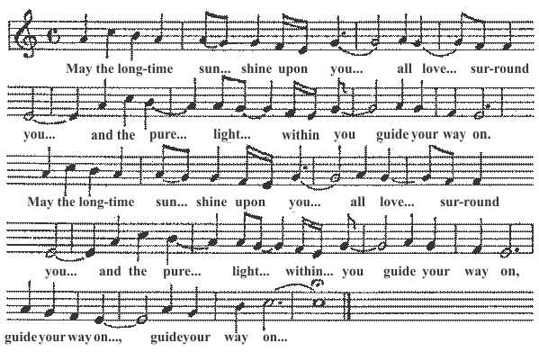 "Music Sheet to the song ""Longtime Sunshine"""