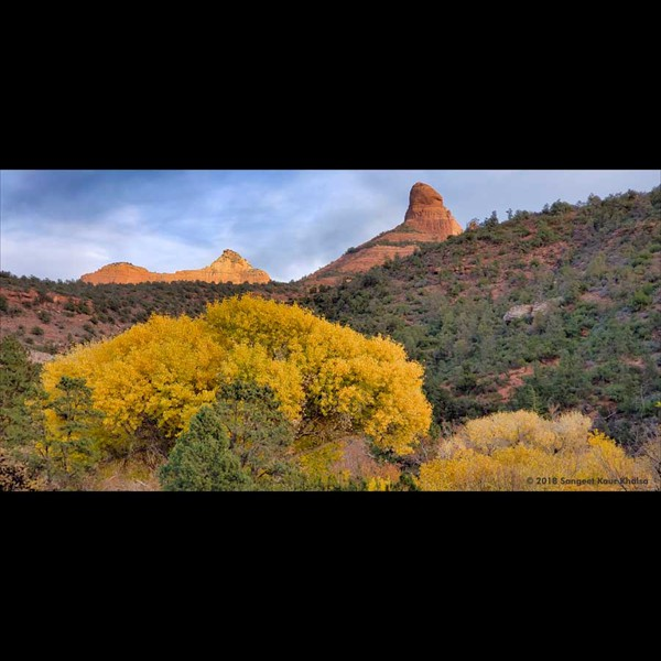 Just North of the iconic red rocks of Sedona, Arizona...